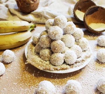 Kuglice s bananom i kokosom bez pečenja