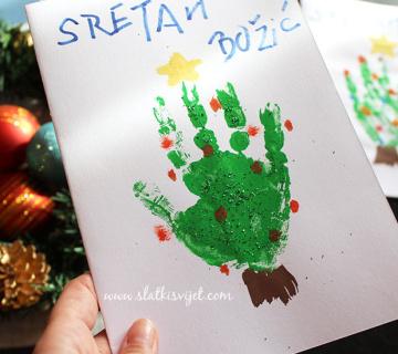 Božićne čestitke od papira