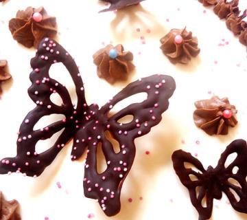 Izrada čokoladnog leptira