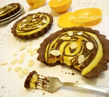 Čokoladne tortice s narančom