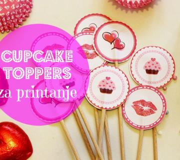 Dekoracija za cupcakes kolačiće [za printanje]