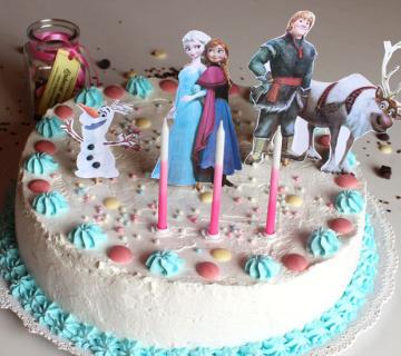FROZEN: Dekoracija rođendanske torte za djevojčice