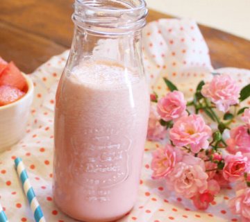 Milkshake s lubenicom i sladoledom