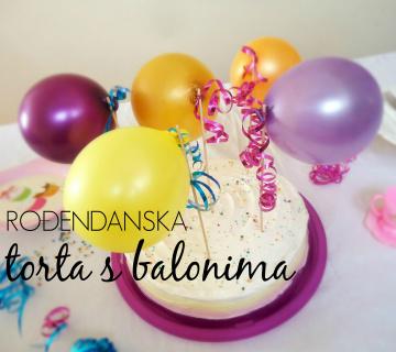 Rođendanska torta s balonima