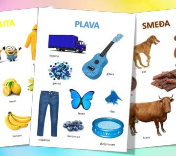 Učimo boje: Radni listovi za printanje