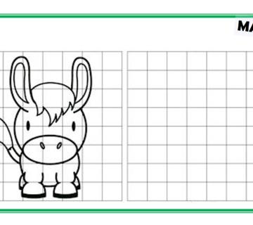 UČIMO CRTATI: Precrtajte životinjske likove uz pomoć mreže