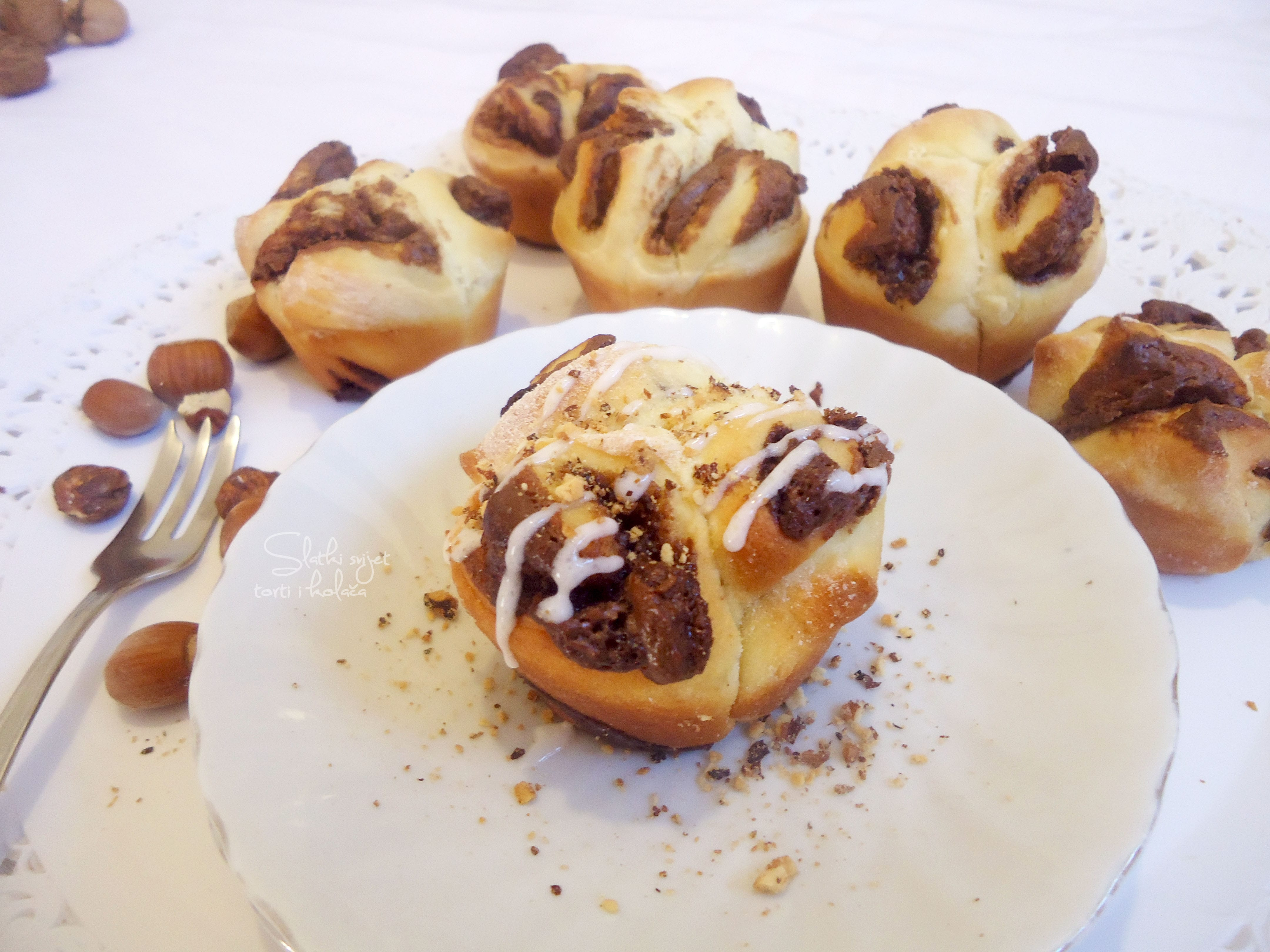 Muffin rolice s nutellom