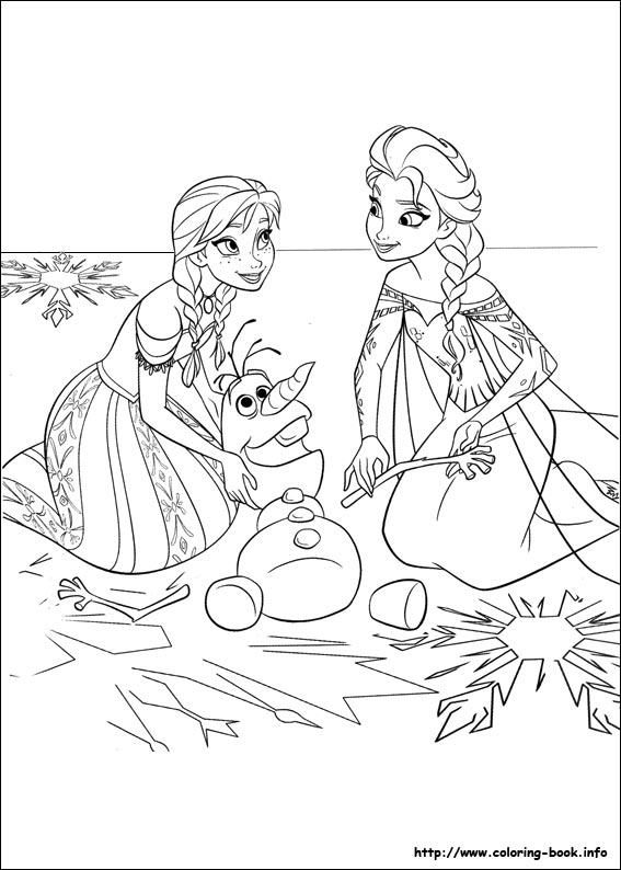 Coloring Pages Of Frozen Pdf : Frozen bojanke