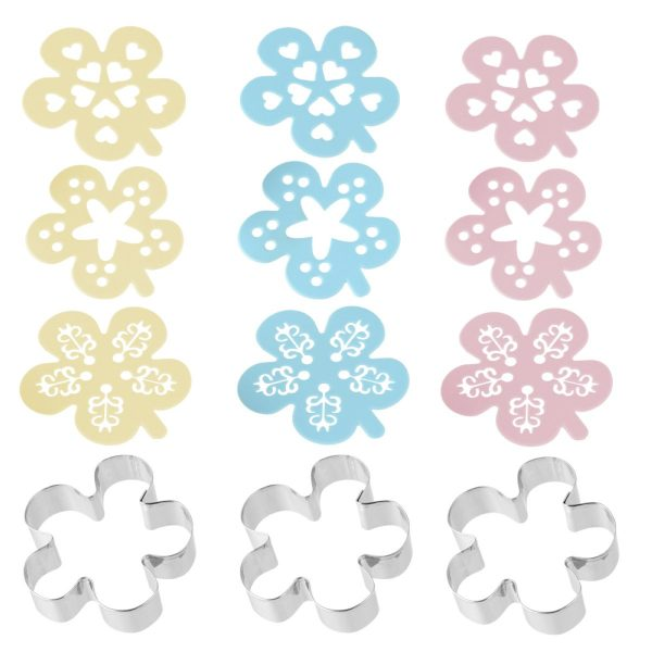 izrezivaci za kekse cvjetici s dekorativnom sablonom online kupnja
