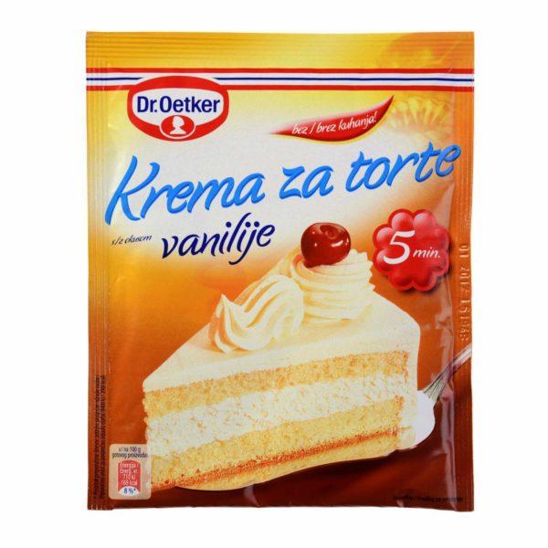 krema za torte vanilija dr oetker