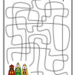 labirinti za printanje bozic