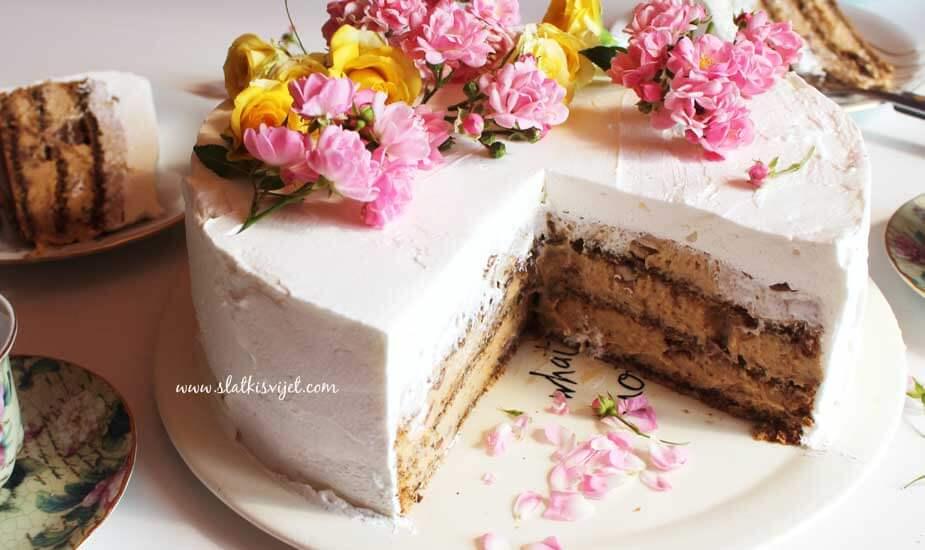 grcka kraljica torta s orasima keksima milka cokoladom