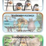 rodjendanske pozivnice za printanje za djecu madagascar
