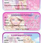 rodjendanske pozivnice za printanje za djecu barbie