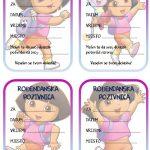 rodjendanske pozivnice za printanje za djecu dora istrazuje