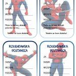 rodjendanske pozivnice za printanje za djecu spiderman