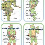 rodjendanske pozivnice za printanje za djecu ninja kornjace