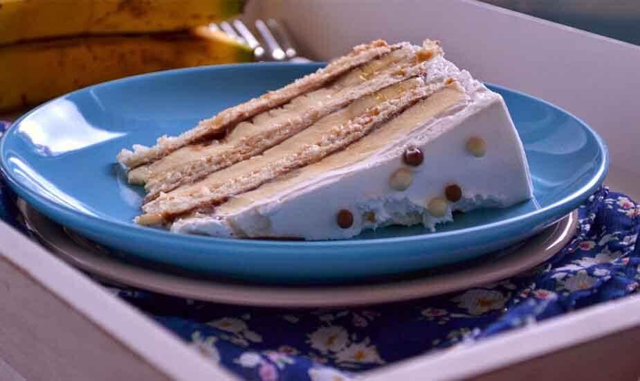 banana split torta s bademima