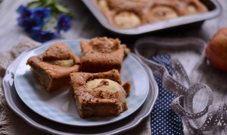 prevrnuti naopaki kolac jabukama orasima bademima recept