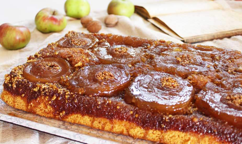 prevrnuti kolac s jabukama i orasima recept iz bakine biljeznice