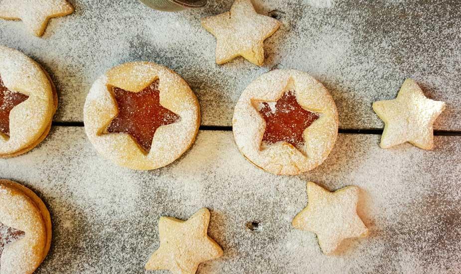 linzeri zvjezdice vanilice bez glutena recept bozic