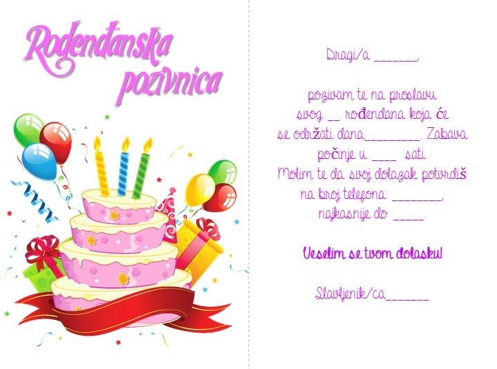 pisane čestitke za rođendan Rođendanske čestitke za djecu pisane čestitke za rođendan