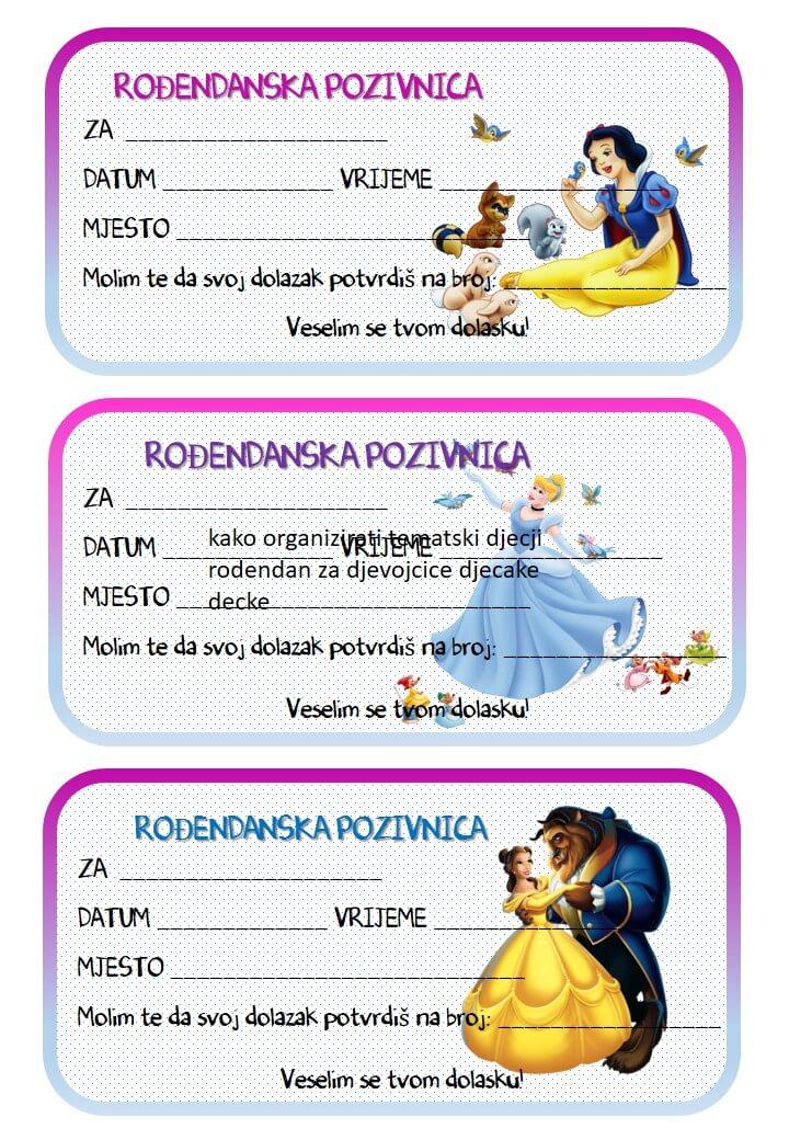 pozivnice za dječji rođendan za printanje Rođendanske pozivnice za printanje pozivnice za dječji rođendan za printanje