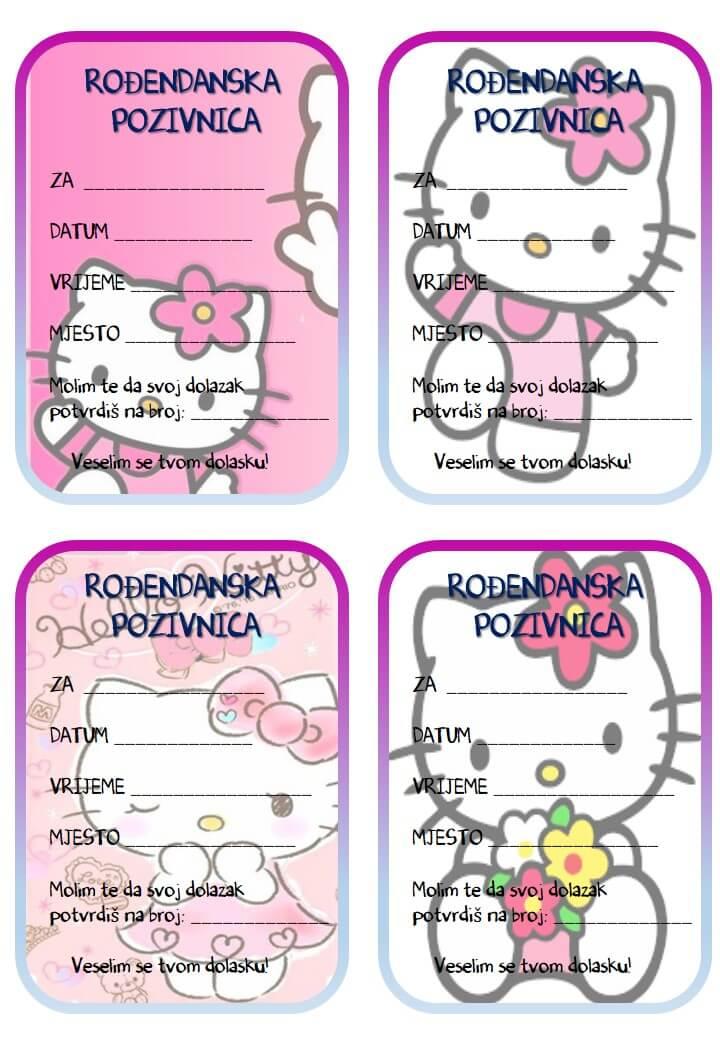 pozivnice za rođendan za djevojčice za printanje Rođendanske pozivnice za printanje pozivnice za rođendan za djevojčice za printanje