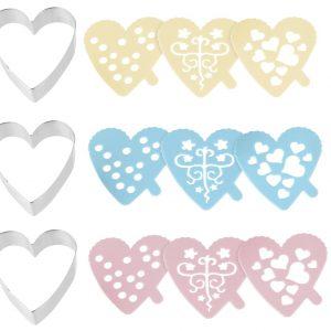 izrezivaci za kekse srca s dekorativnom sablonom online kupnja