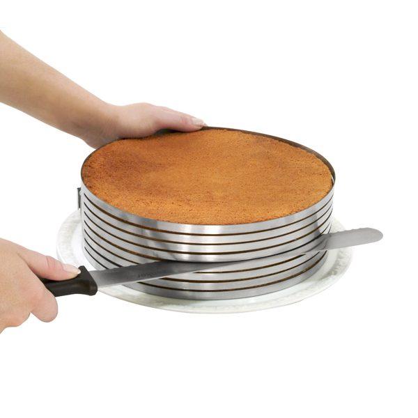 Pomagalo za rezanje biskvita i nož