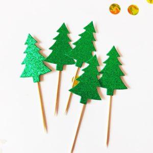 cupcake topper dekoracija ukras sob bozic zlatni slatkisvijet