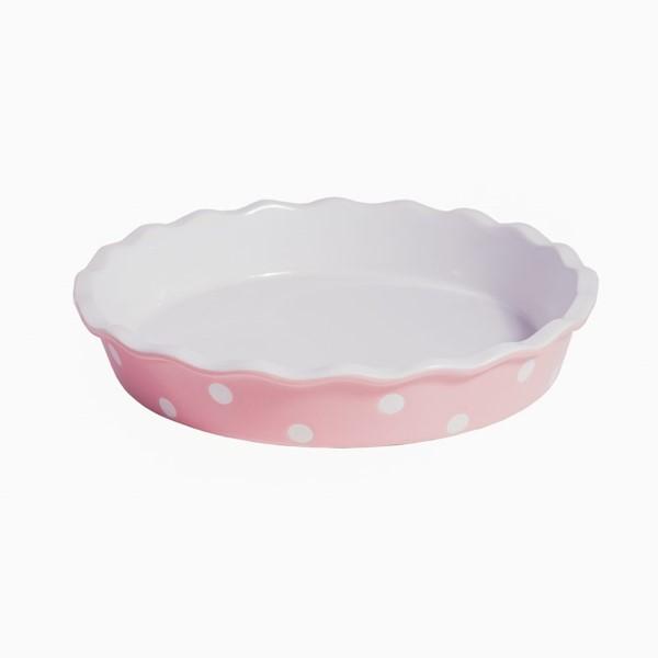 okrugli keramicki pekac za pitu isabelle rose