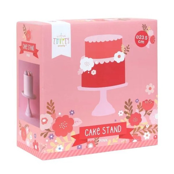 mini stalak za tortu roza