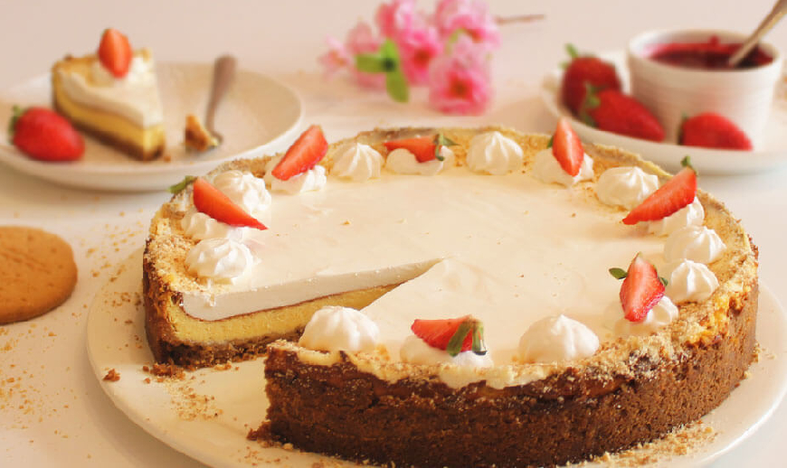 Mascarpone cheesecake